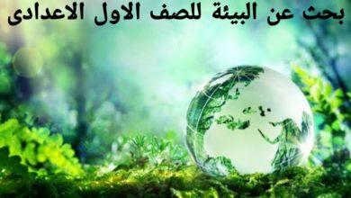 Photo of بحث عن البيئة للصف الاول الاعدادى