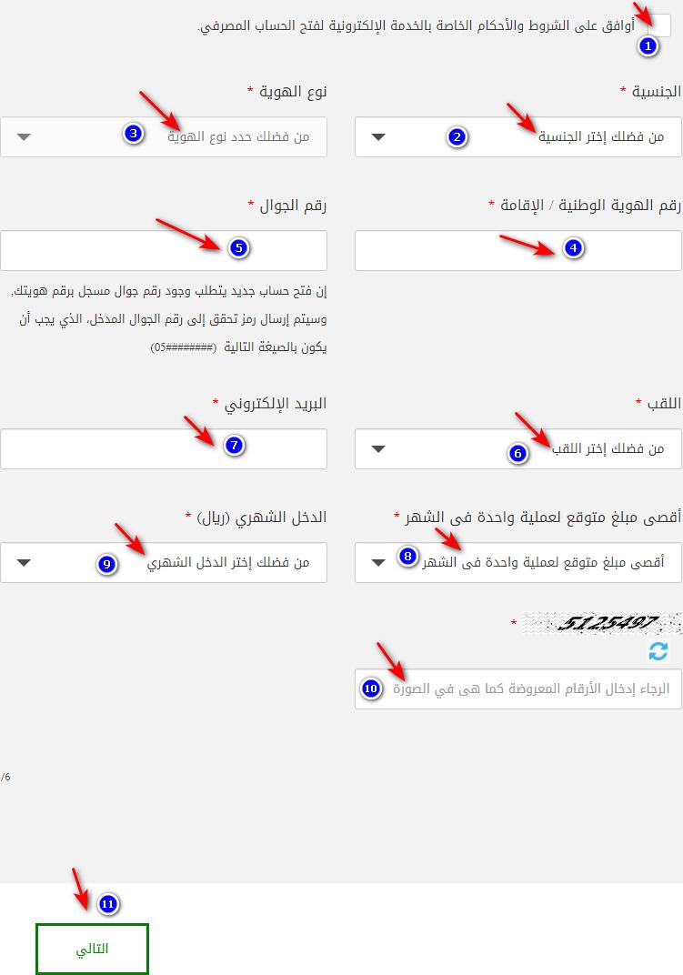 فتح حساب للأجانب عن طريق الموقع الرسمي للبنك