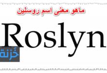 ماهو معنى اسم روسلين